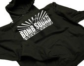 Bomb Squad If You See Me Running Try To Keep Up Funny Hoodie Mens Womens S-2XL Great Gift Idea