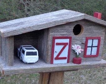 Rustic Cedar Bluebird Bungalow Birdhouse