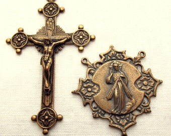 Bronze Divine Mercy Rosary Set