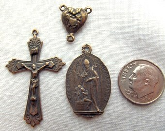 Bronze St Nicholas Rosary Set