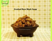 Crushed Raw Black Soap 8 Ounce (Grade-A Potent, Detoxify skin, Reduce pore size, Remove excess oil)