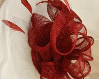 Cherry Red Lily Fascinator