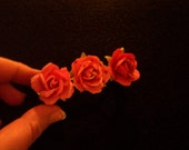 Shades of Pink Paper Flower Clip Barrette