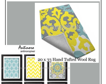 Popular items for yellow rugs on Etsy