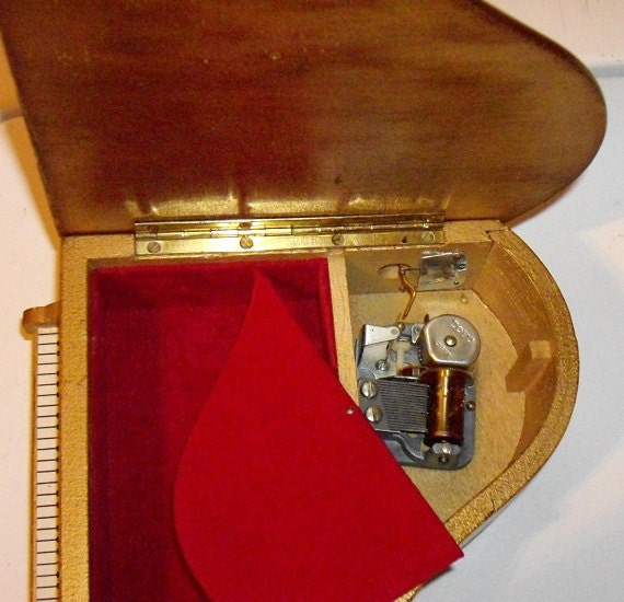 Vintage Enesco Imports Musical Jewelry Box Baby Grand Piano