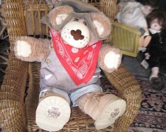 Furskin Bear, 1984 Duddley Furskin Bear, Xavier Roberts, Vintage Teddy Bear, Vintage Toys, Vintage Stuffed Animals, Vintage Plush Animal :)S