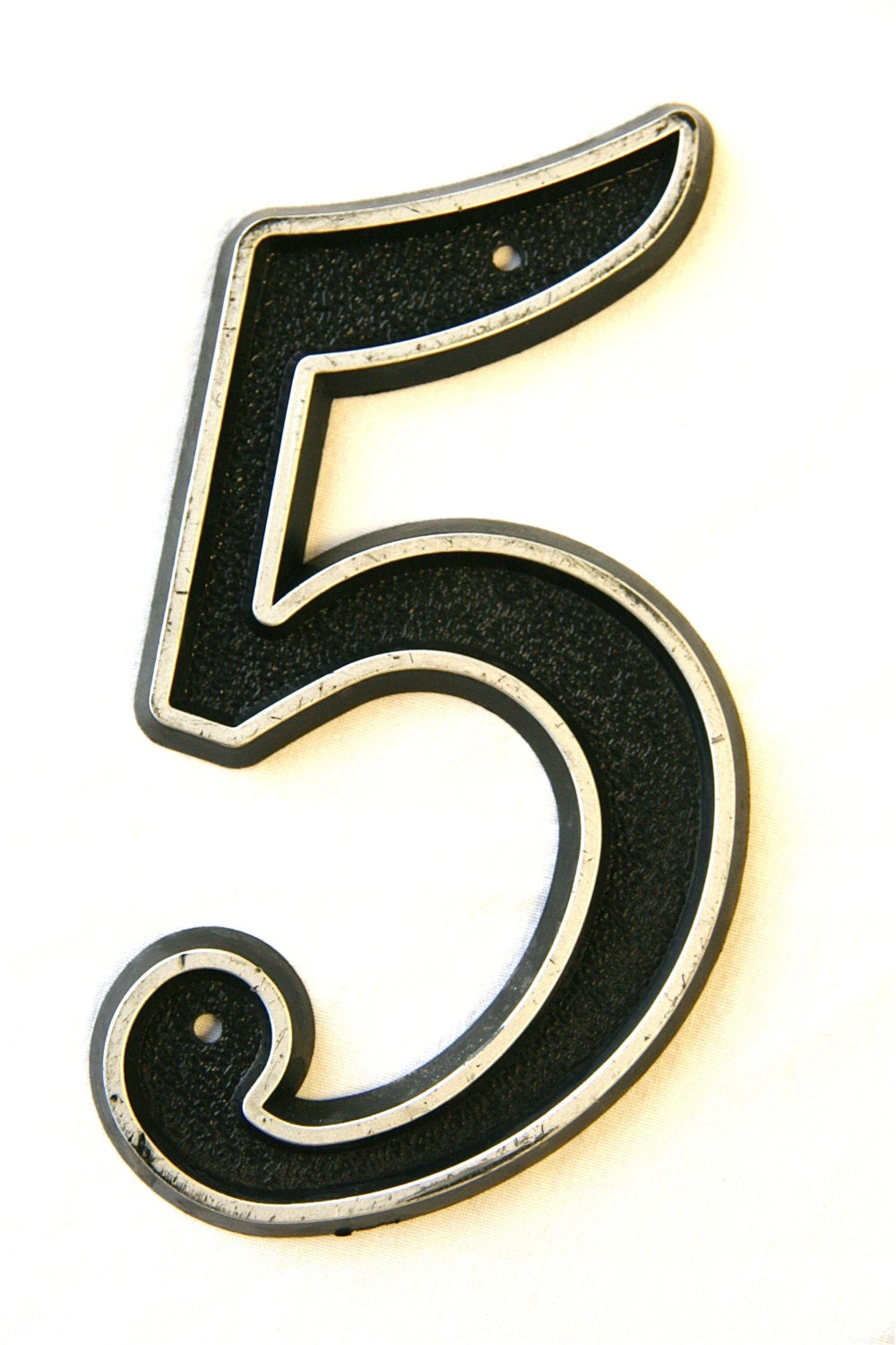 Number 5 Vintage House Number Black and by DesignRewindHome