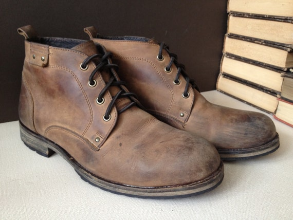 Handcrafted Leather Chukka Boots // Mens 11