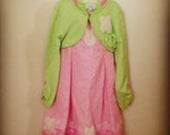 Reserved for Whitebubbybear- Caryse Easter dress and shrug size 5T/ 5