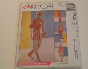 McCalls Pattern 2755 Easy Miss Petite Unlined Jacket Dress Top Pullover Pants Short