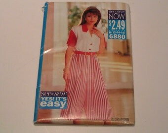 Vintage Butterick Pattern 6880 See & Sew Miss Culotte Dress