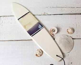 Surf Art.  Polaroid Transfer Printed on Ceramic Surfboard.   Long Board.