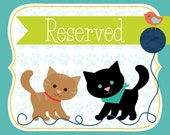 RESERVED FOR MELANIE - Cat bandana handkerchief - Bees neckerchief - Yellow cat scarf