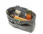 Organizer Bag Makeup Bag Felt Container Cosmetic Bag Toiletry Storage Organizing Handbag Christmas Gift-Grey