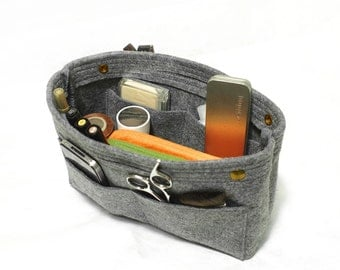 Organizer Bag Makeup Bag Felt Container Cosmetic Bag Toiletry Storage Organizing Handbag Christmas Gift-Grey