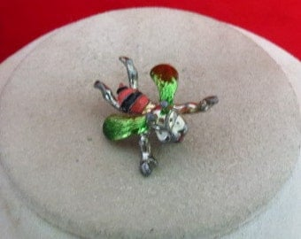 Vintage Enameled Bug Pin