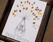 Baby Boy Owl Baby Shower Thumbprint Guest Book