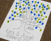 Small Thumbprint Guest Book Tree with Swing Detail fits 30-70 thumbprints