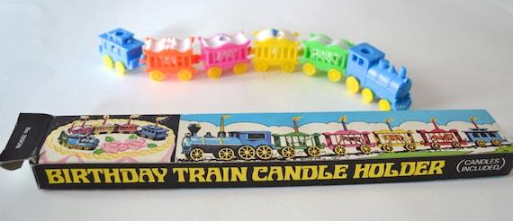 Vintage Train Cake Topper In Original Box Birthday Cake