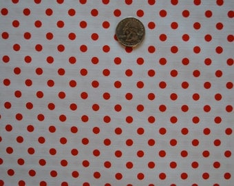 Michael Miller fabric RED DOTS on White