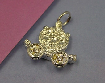 D244 Silver Carriage Cinderella Charm