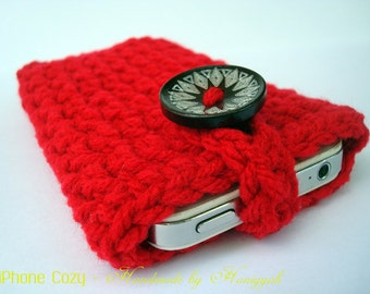 Cell Phone Cozy - iPhone - iPod Touch - Case - Cover - Handmade Crochet