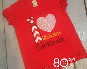 Custom I Heart St. Louis Cardinals Boutique Shirt