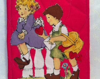 Quilted Valentine Postcard