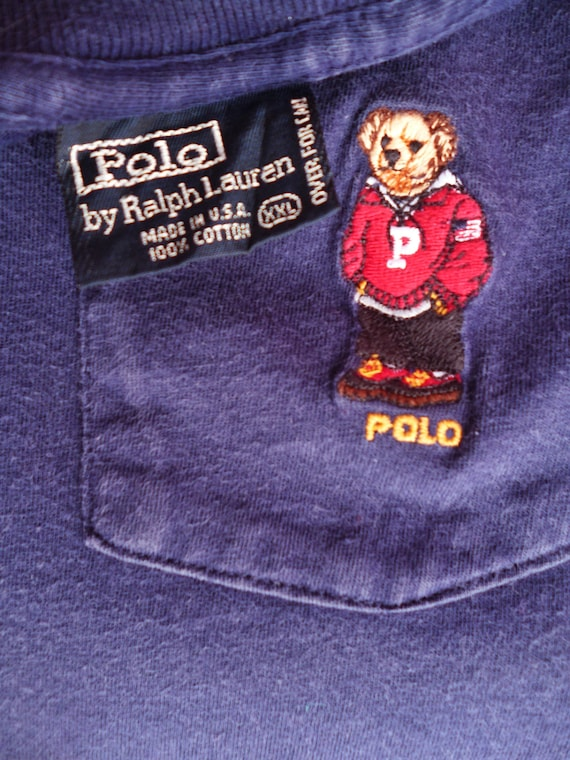 Rare vintage Polo by ralph lauren Polo Bear made in Usa P wing stadium 92 golf xxl t-shirt