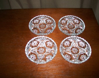 Vintage Early American Prescut (Star of David) Coasters