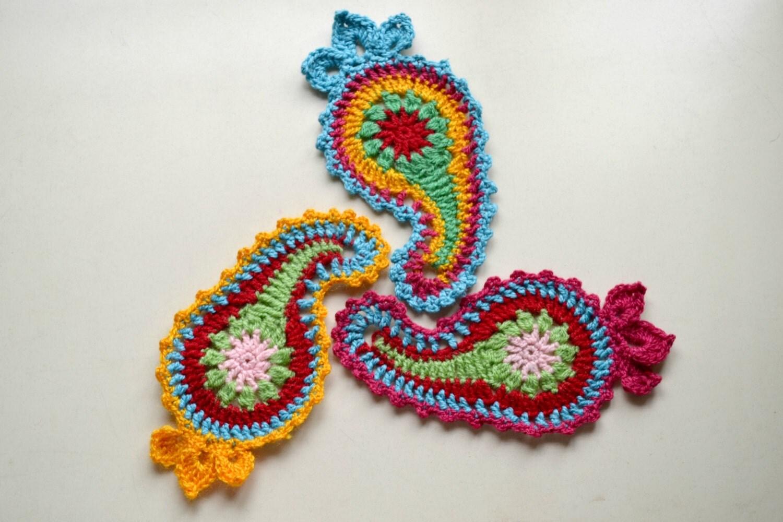 Free Crochet Paisley Motif Pattern : Crochet paisley pattern pattern No. 66 by Thehobbyhopper ...