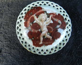 Trinket Box: Hand Decorated Porcelain