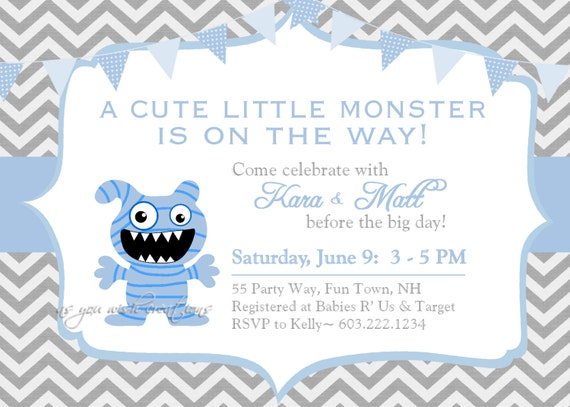 monster baby shower invitation twins invitation monster shower  etsy, Baby shower