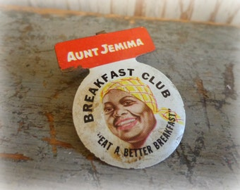 vintage aunt jemima breakfast club pin