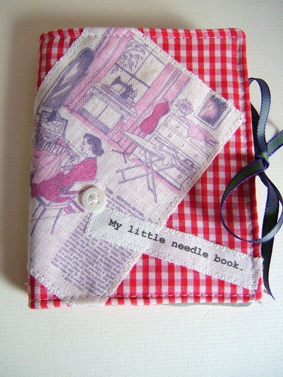 Vintage Look  Sewing Needle Case  NC15