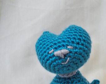 Sitting Pretty Turquoise Kitty amigurumi plush toy
