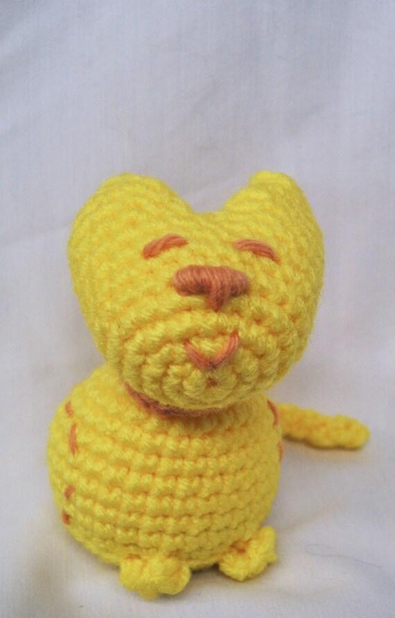 Sitting Pretty Yellow Kitty amigurumi plush toy