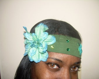 ON SALE Gorgeous Green Luck of the Irish/St. Patrick's Day Tribal Belly Dance Headband