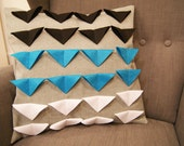 Turquoise Triangle Pillow Cover - Clearance