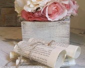 Wedding Book Table Decorations Set of 5 by Burlap and Linen Co