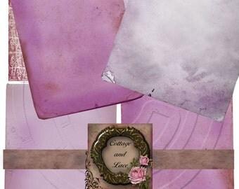 Grunge Digital Purple Papers, Digital Backgrounds, Printable Paper, Instant Download,Collage Sheet, Old Paper No. 309