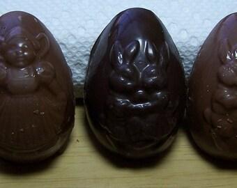 Chocolate FUDGE Egg - 1 oz -  FUDGE Filled Egg - Chocolate Egg