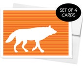 Woodland Animals Note Cards - Set of 4 Designs - You Choose