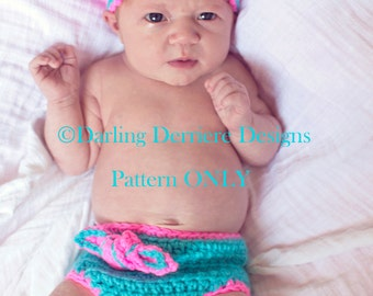 PDF Instant Download Knot Diaper Cover and Knot Headband PATTERN