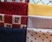 Fat Quarter Fabric Bundle of 10 Multicolor Pieces of Cotton Prints for Quilting and Craft Projects