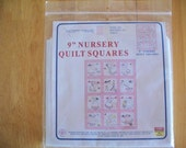 "Jack Dempsey Needle Art -- 9"" Nursery Quilt Squares Ready to Embroider"