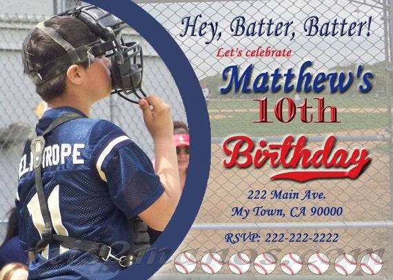Tarjetas de Beisbol Para Imprimir Fiesta de Baseball Invitación de cumpleaños (Archivo Digital para imprimir)