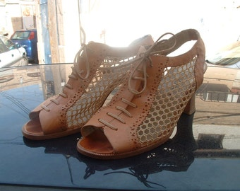 leather shoes made in italy size 41 famous designer in Italy circa 1980's