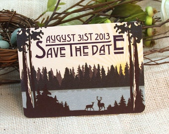 Mountain Lake Craftsman Save The Date Postcard: Get Started Deposit or DIY Payment