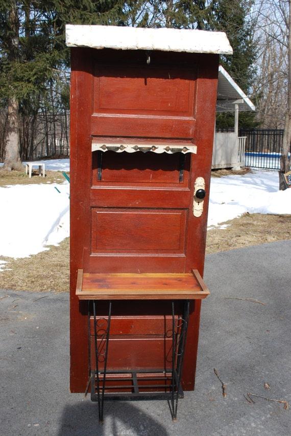 Antique 5 Panel Door Hall Tree Or Potting Bench By Nelotcram